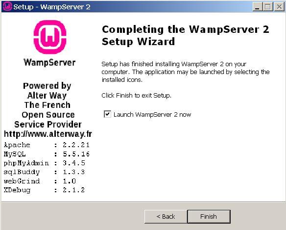 wampserver 2.2a